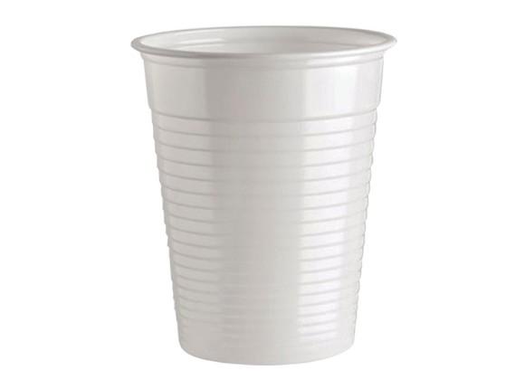 Plastična bijela čaša za vodu 200ml